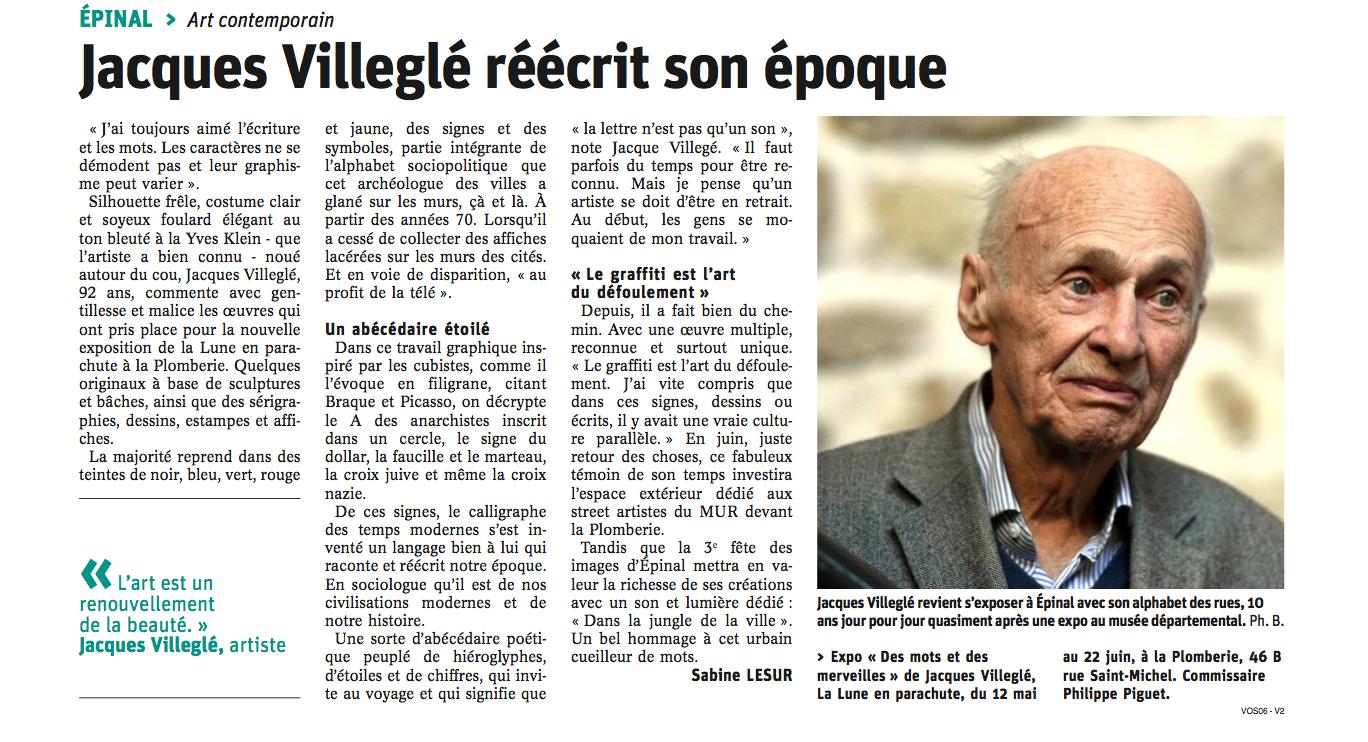 Article de Vosges Matin du 12-05-2018