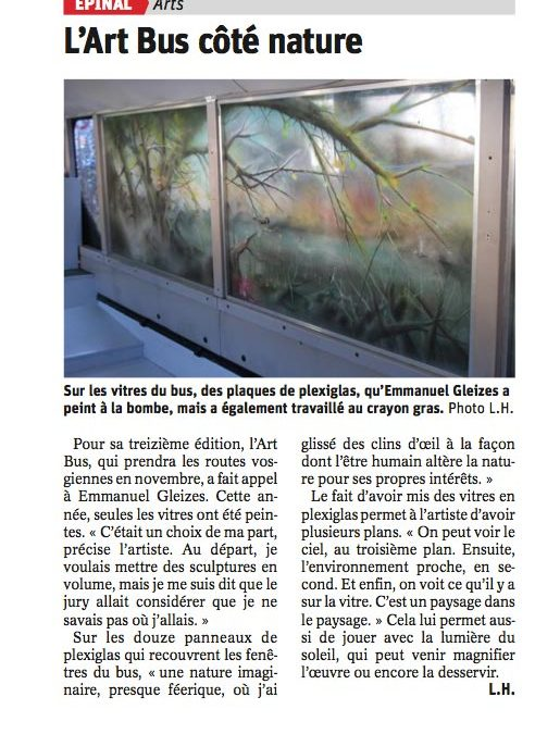 Emmanuel GLEIZES – article VosgesMatin 27.09.2018