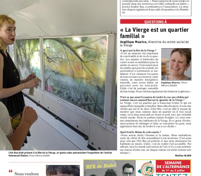 Emmanuel Gleizes – Article Vosges Matin du 30.06.2019